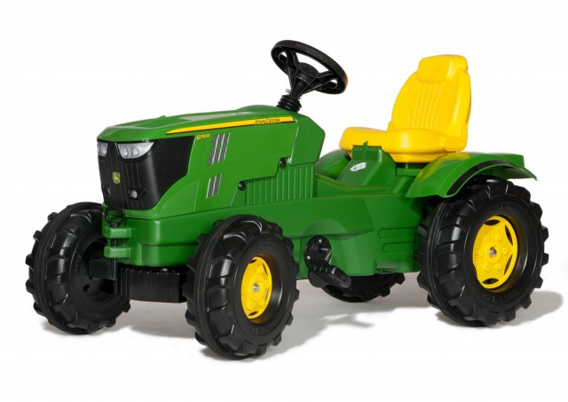 Tractor John Deere 6210R cu pedale Rolly Toys